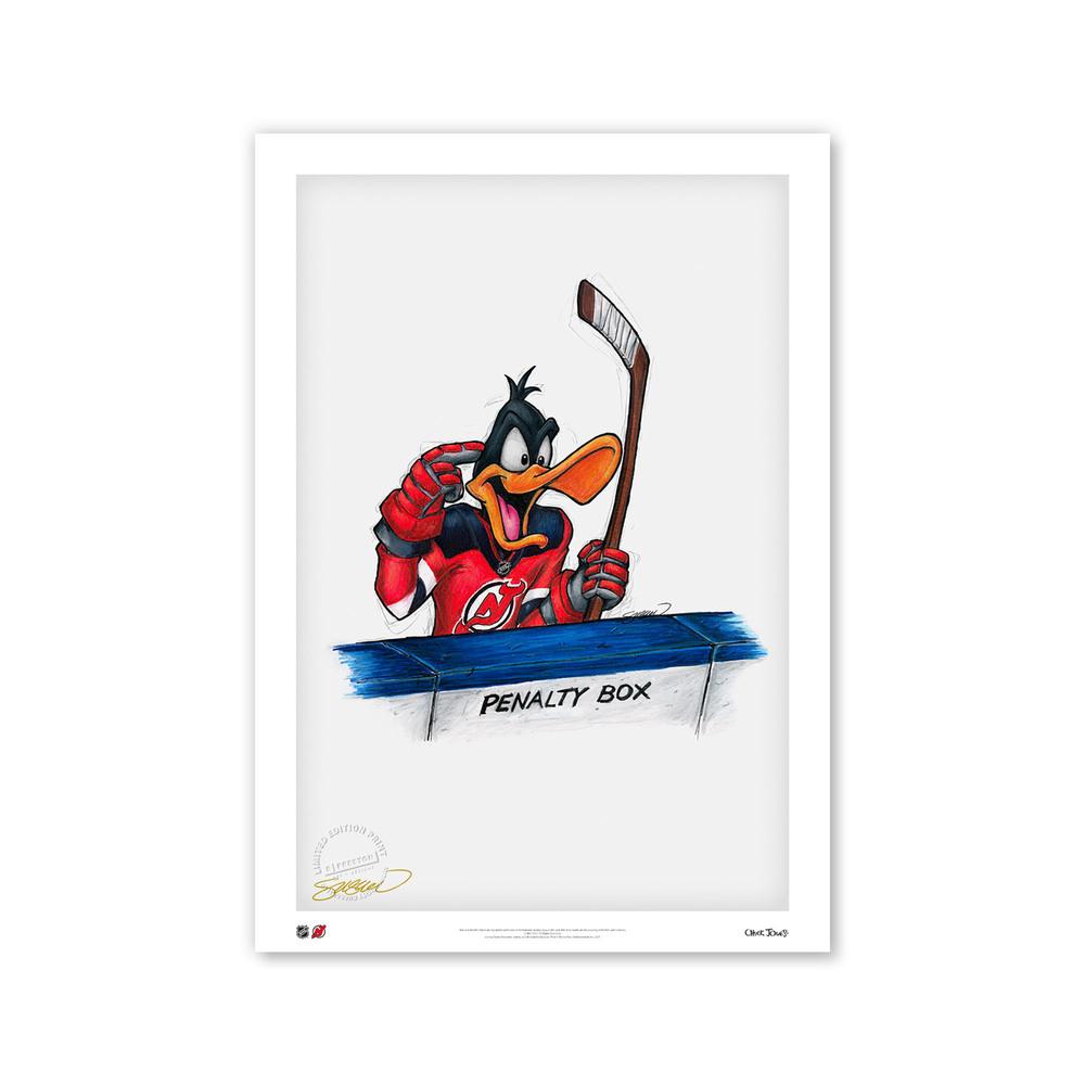 New Jersey Devils Minimalist NHL Logo Limited Edition Art Print by S. Preston