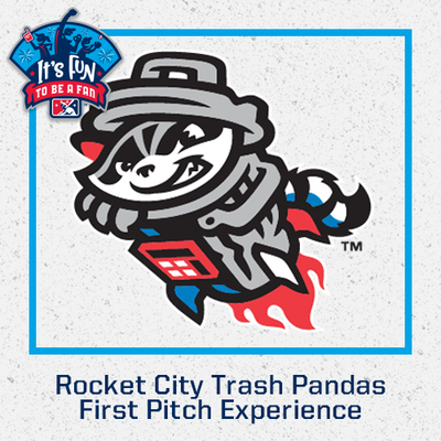 Rocket City Trash Pandas First Pitch Experience