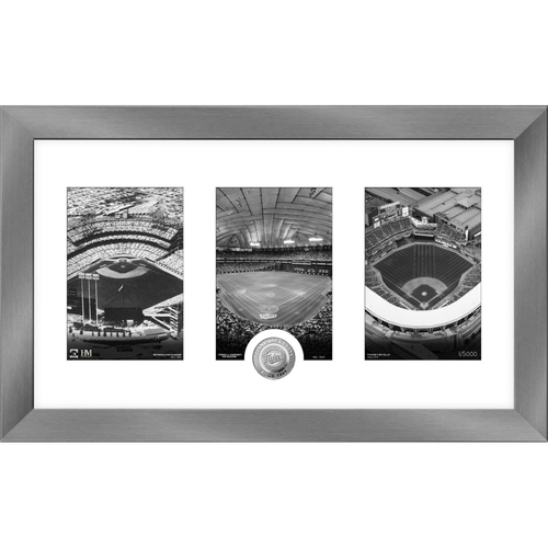 Photo of Minnesota Twins Art Deco Silver Coin Photo Mint