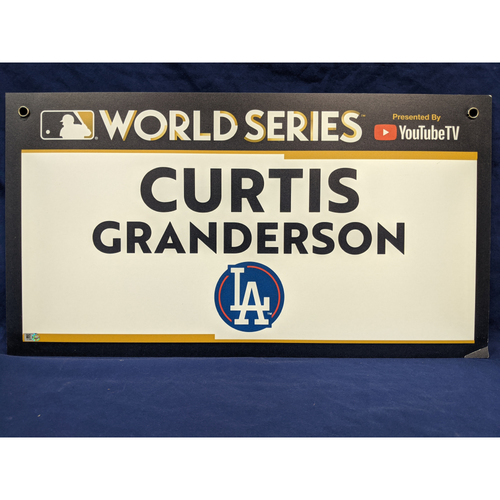 Photo of Team-Issued Curtis Granderson 2017 World Series Media Sign