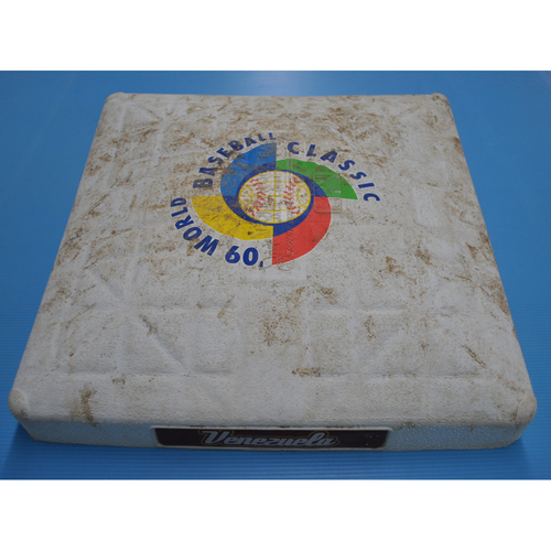 Photo of Game-Used Base - 2009 WBC - Round 2 - 3rd Base - Miami - United States vs. Venezuela - 03/18/2009