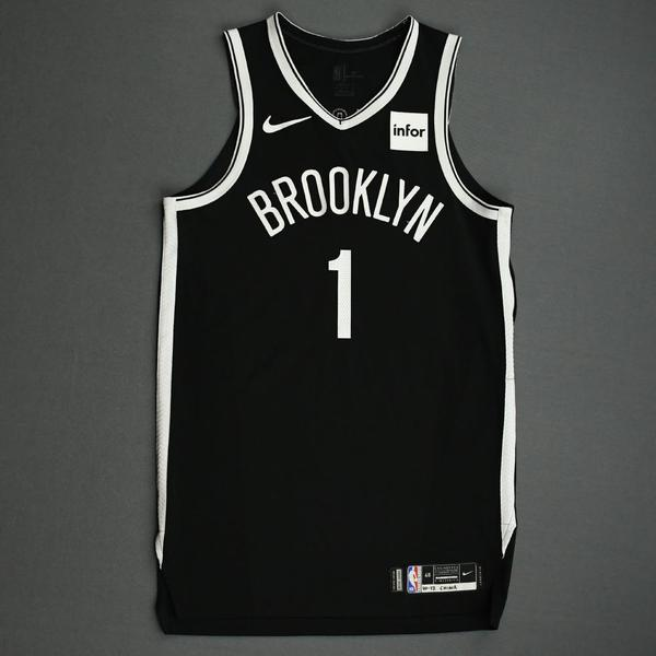 Image of Theo Pinson - Brooklyn Nets - NBA China Games - Game-Worn Icon Edition Jersey - 2019-20 NBA Season