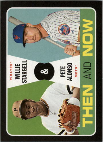 Photo of 2020 Topps Heritage Then and Now #TN5 Pete Alonso/Willie Stargell