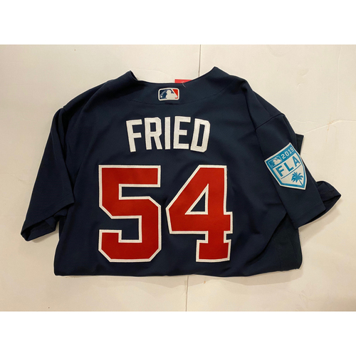 Max Fried 2019 Game Used Spring Training Jersey - Worn March 4, 2019