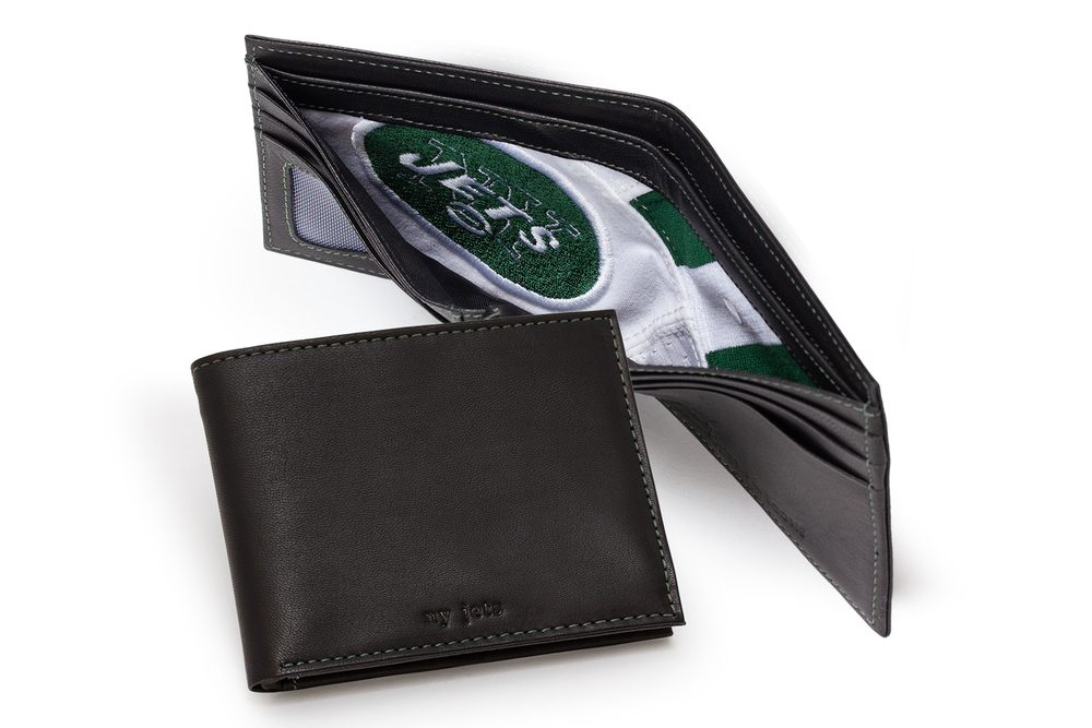 Tokens & Icons NY JETS Game Used Jersey Wallet