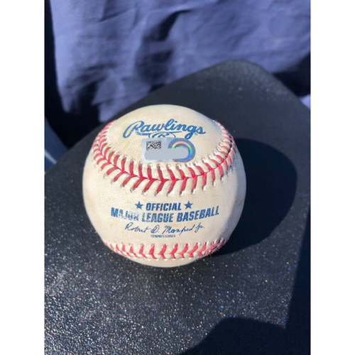 Photo of Game-Used Baseball - 2020 ALCS - Houston Astros vs. Tampa Bay Rays - Game 2 - Pitcher: Charlie Morton, Batter: Jose Altuve (Single) - Top 3