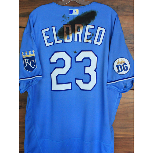 Photo of Alex's Lemonade Stand Foundation: Game-Used Cal Eldred Jersey (Size 52 - 9/26/20 DET @ KC)
