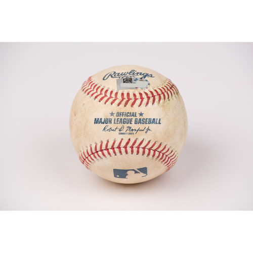 Photo of Game Used Baseball: Pitcher: Keynan Middleton, Batter: Alex Bregman - Double - Top 5 - 7-31-2020 vs. HOU