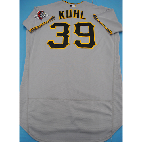 Photo of Team-Issued 2020 Road Gray Jersey - Chad Kuhl - Size 46TC
