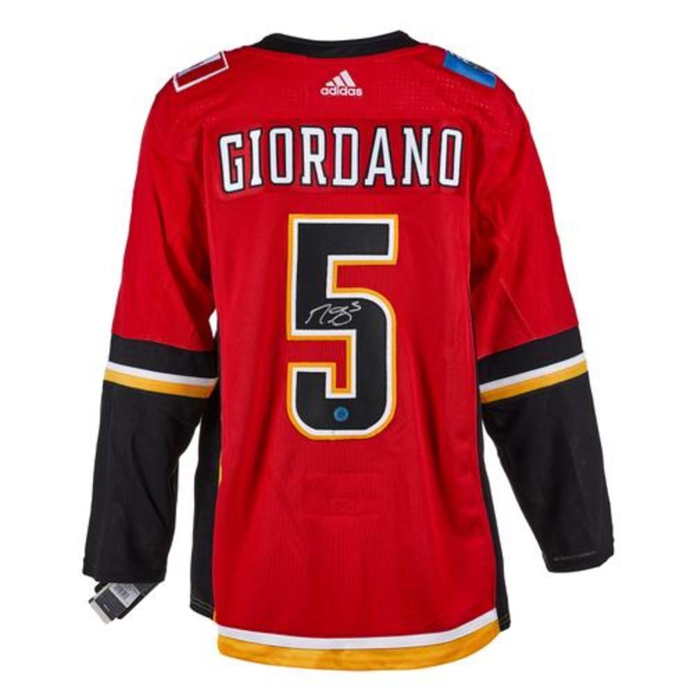 Mark Giordano Calgary Flames Signed Red & Black Adidas Jersey