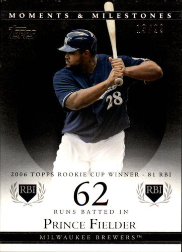 Photo of 2007 Topps Moments and Milestones Black #59-62 Prince Fielder/RBI 62