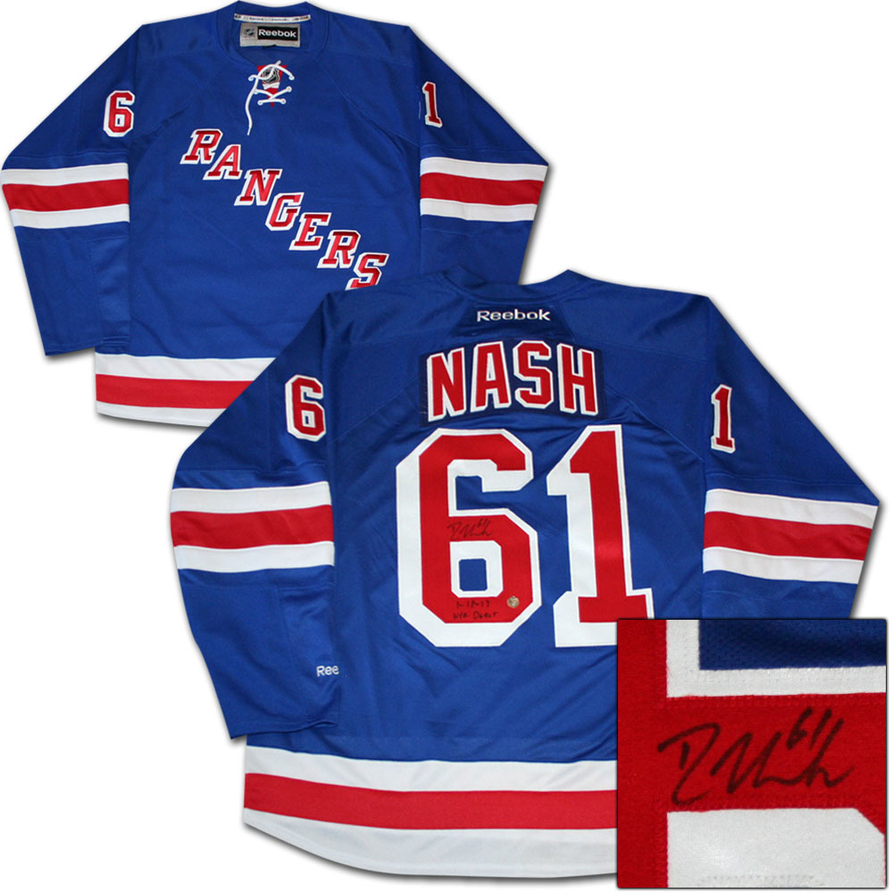 Rick Nash Autographed New York Rangers Jersey