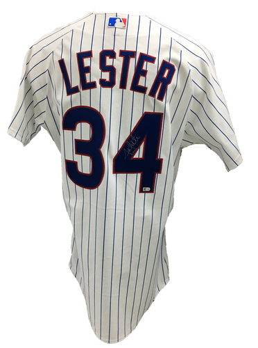 Photo of Jon Lester Autographed Jersey: Size - 48