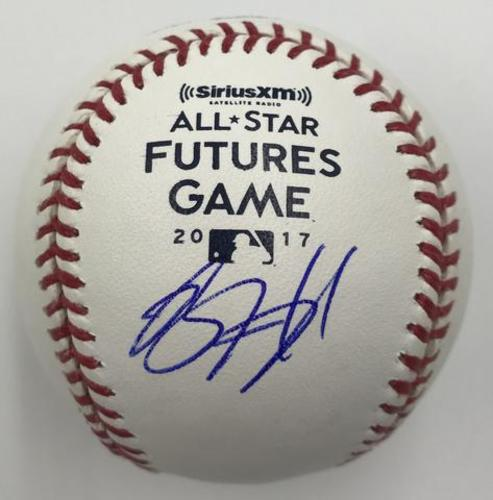 Photo of Brent Honeywell Autographed 2017 Futures Game Logo Baseball