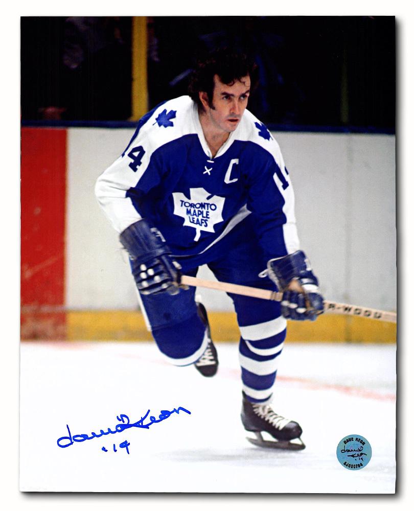 Dave Keon Toronto Maple Leafs Autographed Hockey Captain 8x10 Photo