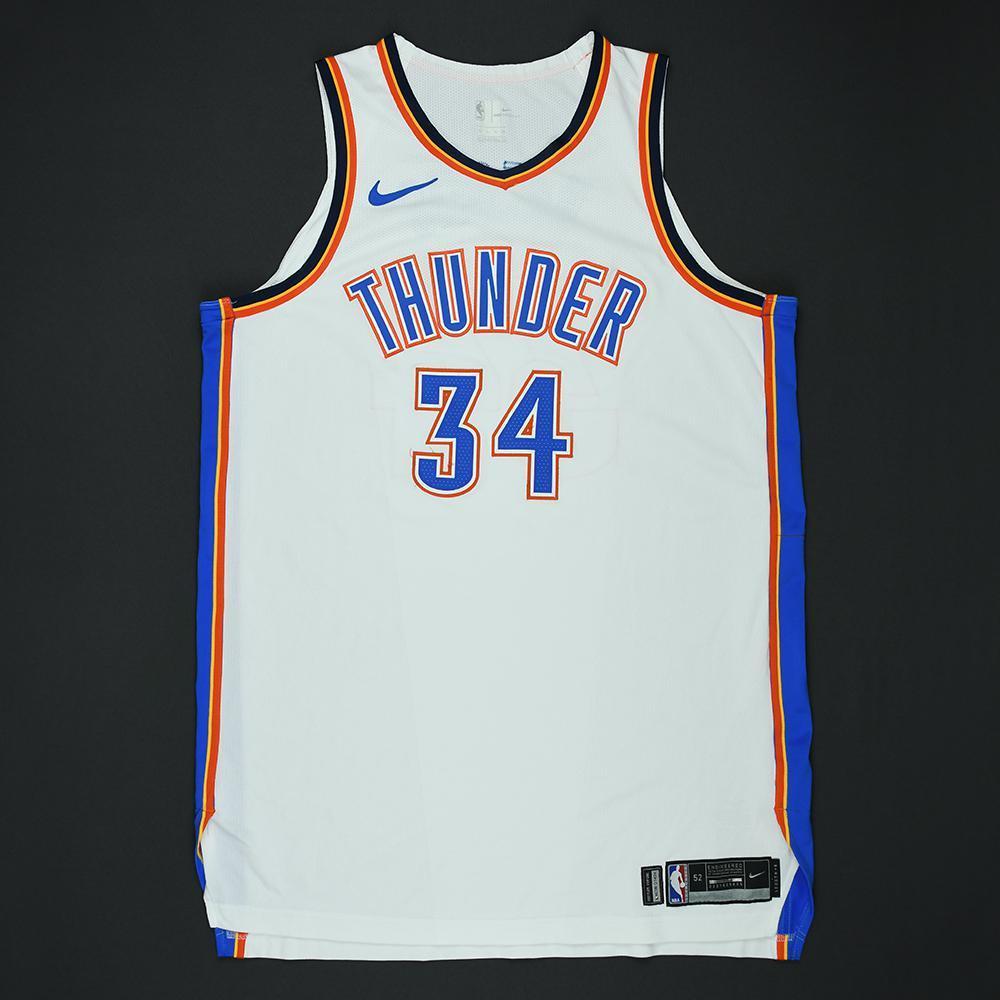 Josh Huestis - Oklahoma City Thunder - 2018 NBA Playoffs Game-Worn Jersey - Dressed, Did Not Play
