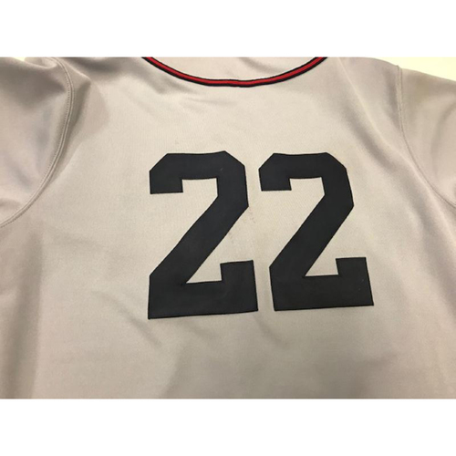 Photo of Game-Used Cleveland Buckeyes Jersey: Jason Kipnis
