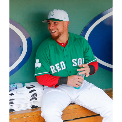 Photo of Red Sox Foundation St. Patrick's Day - Christian Vazquez Game-Used and Autographed Jersey