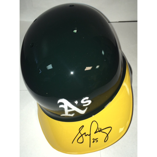 Photo of Stephen Piscotty Autographed Athletics Batting Helmet