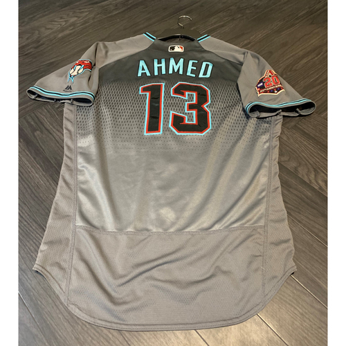 Photo of 2018 Gold Glove Award Winner Nick Ahmed Game-Used Jersey
