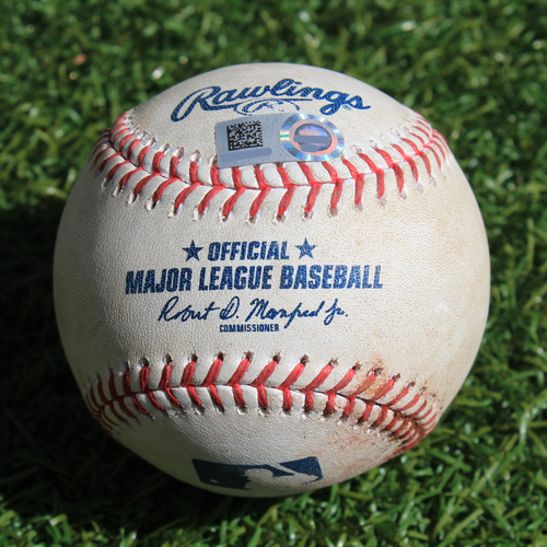 Photo of Game-Used Baseball: Miguel Cabrera 2,801st Career Hit (DET @ KC - 9/3/19)