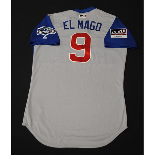 "Photo of 2019 Little League Classic - Game Used Jersey - Javier ""Elmago"" Baez,  Chicago Cubs at Pittsburgh Pirates - 8/18/2019 (Size - 42)"