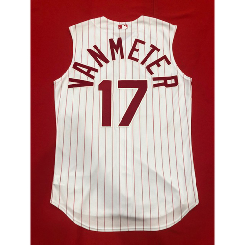 Photo of Josh VanMeter -- Game-Used 1995 Throwback Jersey (Starting RF) -- D-backs vs. Reds on Sept. 8, 2019 -- Jersey Size 44