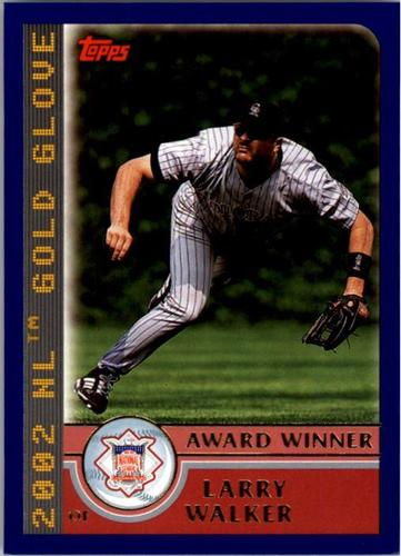 Photo of 2003 Topps #701 Larry Walker AW