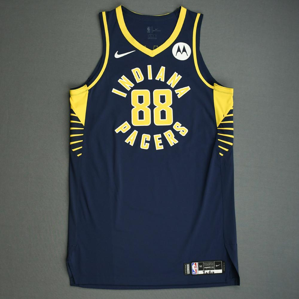 Goga Bitadze - Indiana Pacers - Game-Worn Icon Edition Jersey - NBA India Games - Did Not Dress - 2019-20 NBA Season