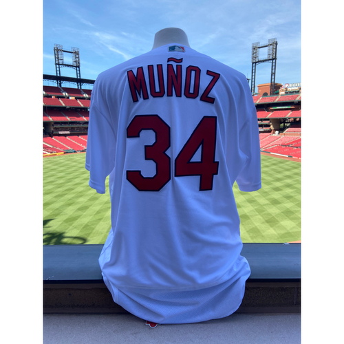 Cardinals Authentics: Team Issued Yairo Munoz Home White Jersey