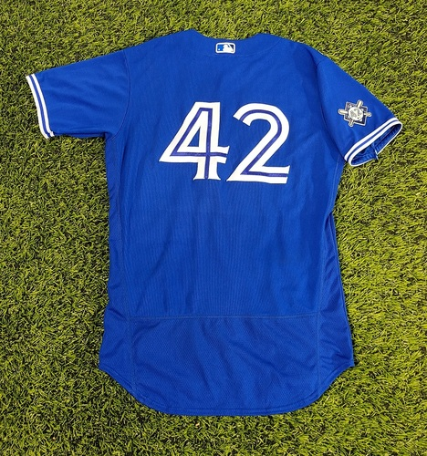 Photo of CHARITY AUCTION: Authenticated Team Issued #42 Jersey: Randal Grichuk (2020 Season). Size 44.