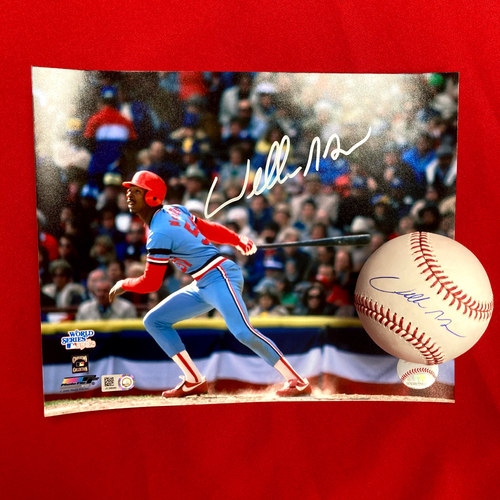 Photo of Willie McGee Autographed Baseball and Photo