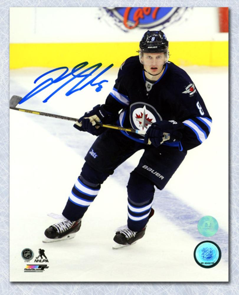 Jacob Trouba Winnipeg Jets Autographed Game Action 8x10 Photo