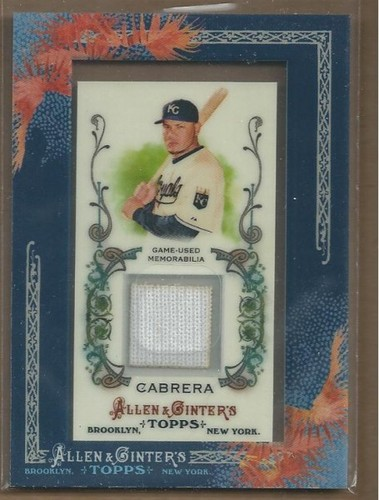 Photo of 2011 Topps Allen and Ginter Relics #MCA2 Melky Cabrera Jsy