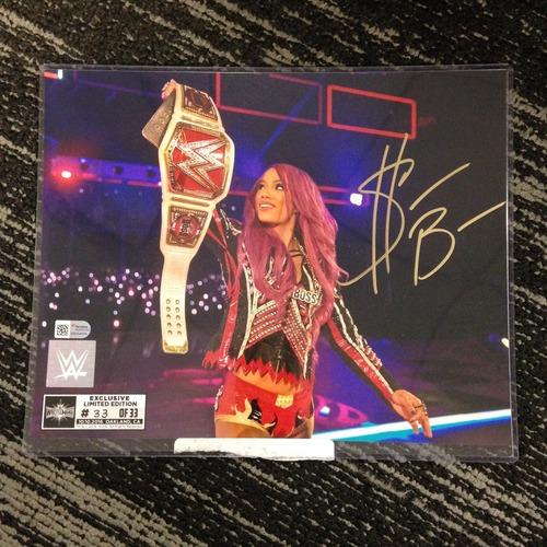 Sasha Banks SIGNED 8 x 10 Limited Edition WrestleMania 33 Photo (#33 of 33) (w/ Title)