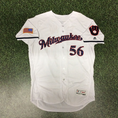 Photo of Paolo Espino 2017 Game-Used Stars & Stripes Jersey