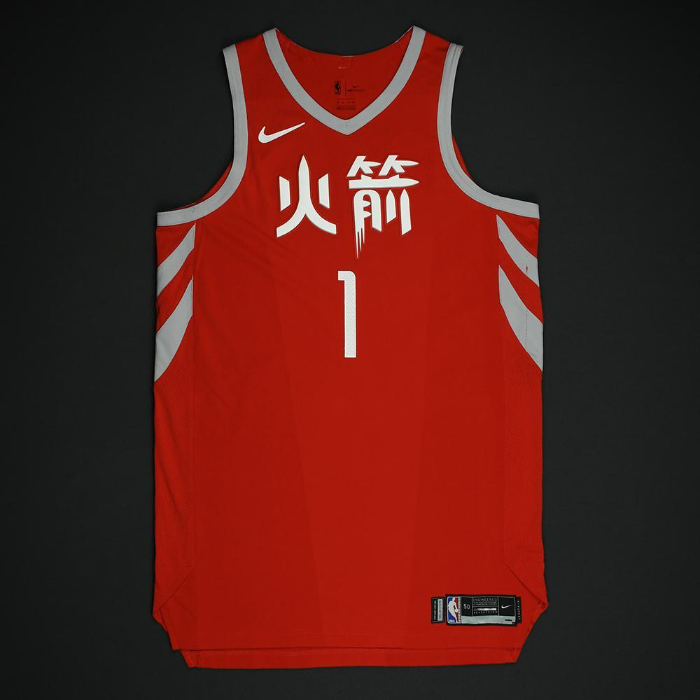 Trevor Ariza - Houston Rockets - Game-Worn 'City' Chinese New Year Jersey -2017-18 Season