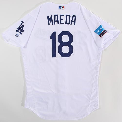 Photo of 2018 Japan Series Game-Used Jersey - Kenta Maeda - Size 46