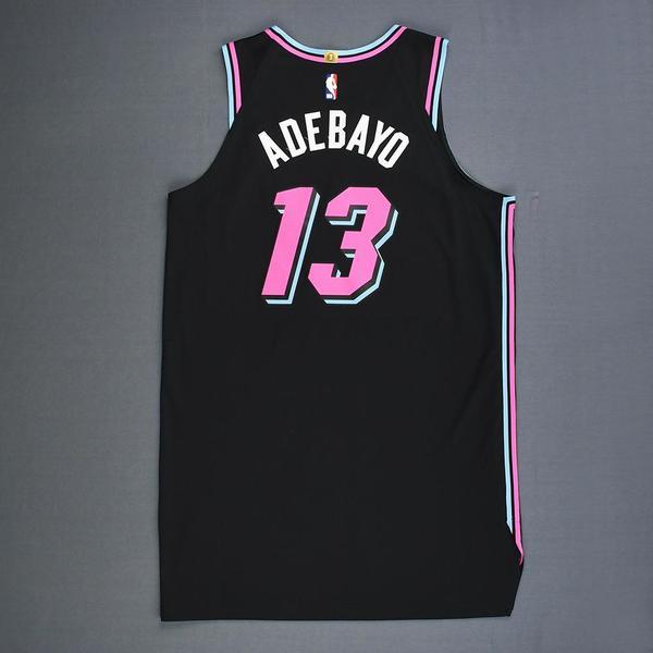 bb4b78a84 Bam Adebayo - Miami Heat - Game-Worn City Edition Jersey - 2018-19 ...
