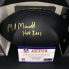 HOF - Oilers Mike Munchak Signed Commemorative Black Hall of Fame Football