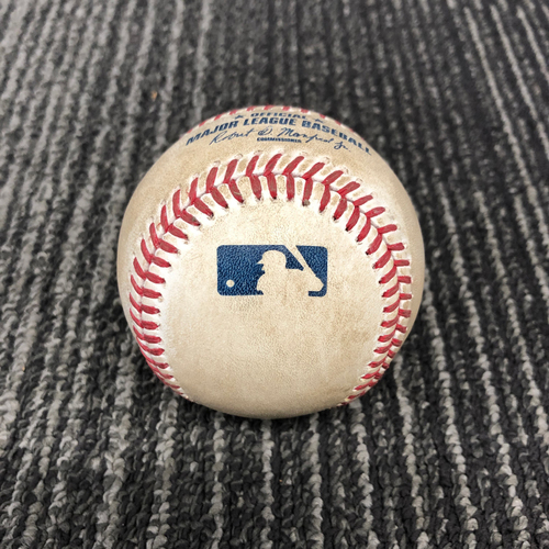 Photo of 2016 Game Used Baseball Used on 10/2/16 vs. Los Angeles Dodgers - B-8: Joe Blanton to Angel Pagan - Single to CF. Also Brandon Crawford Single to CF.