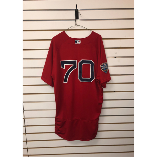 Photo of Ryan Brasier Team-Issued 2018 World Series Home Alternate Jersey