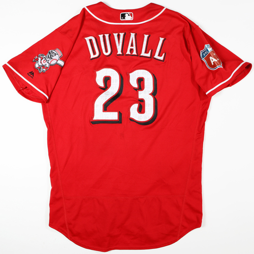 Photo of 2016  Spring Training -  Spring Training Used Jersey - Adam Duvall (Reds) - Size 46
