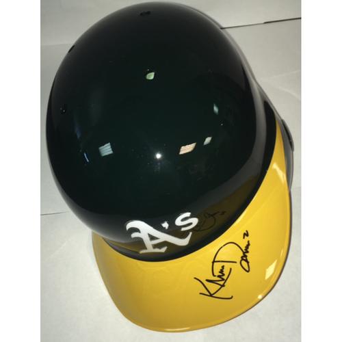 Photo of Khris Davis Autographed Athletics Batting Helmet