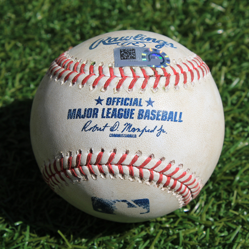 Photo of Game-Used Baseball: Jordy Mercer 163rd Career Double (DET @ KC - 9/5/19)