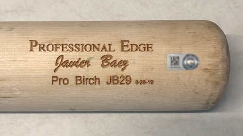Photo of Javier Baez Team-Issued Cracked Bat -- 2019 Season