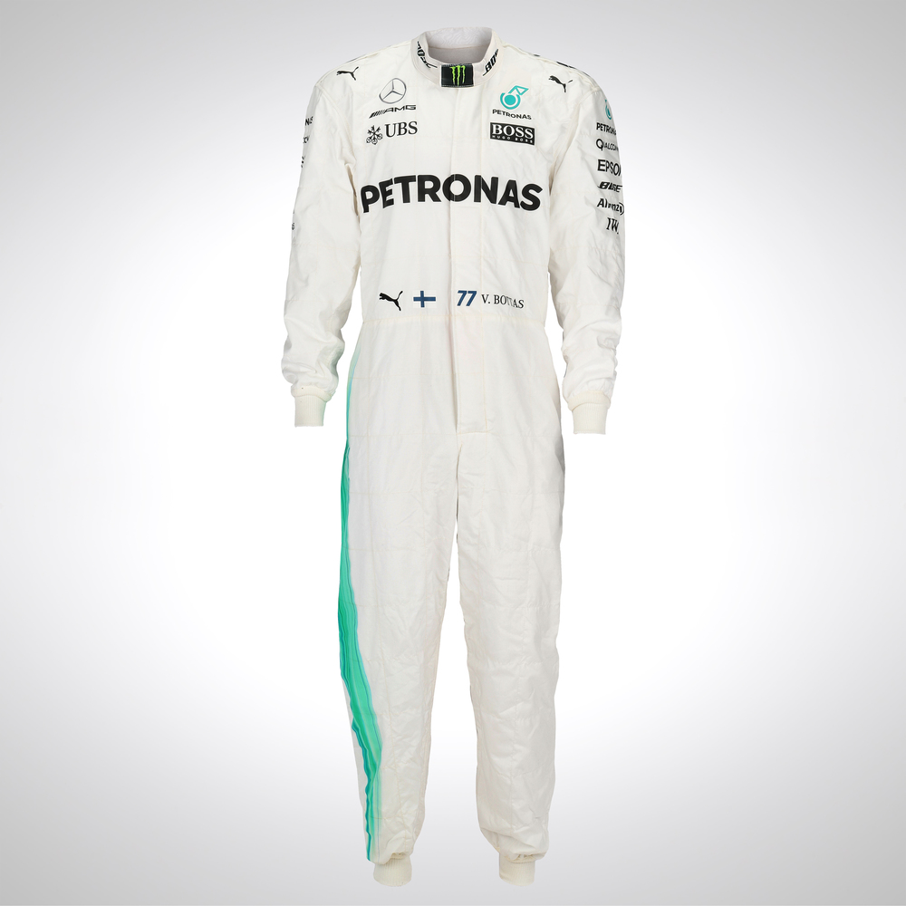Valtteri Bottas 2017 Framed Replica Race Suit - Mercedes-AMG Petronas Motorsport