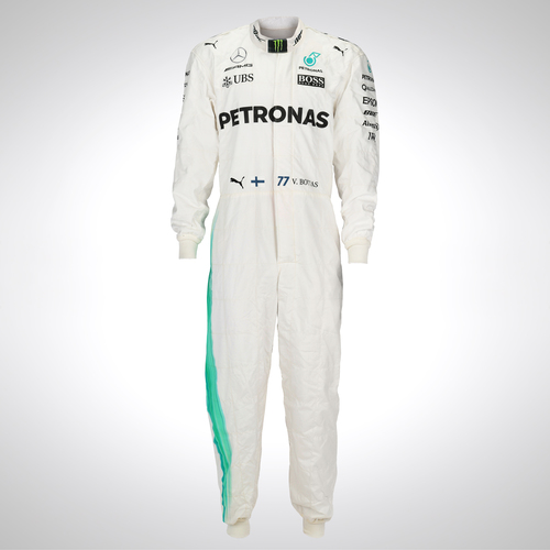 Photo of Valtteri Bottas 2017 Framed Replica Race Suit - Mercedes-AMG Petronas Motorsport