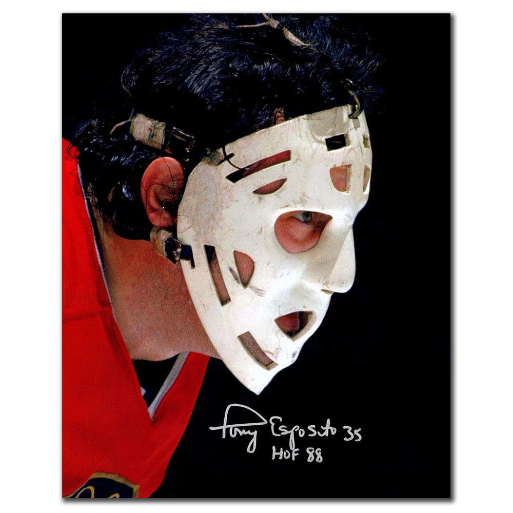 Tony Esposito Chicago Blackhawks MASK Autographed 16x20