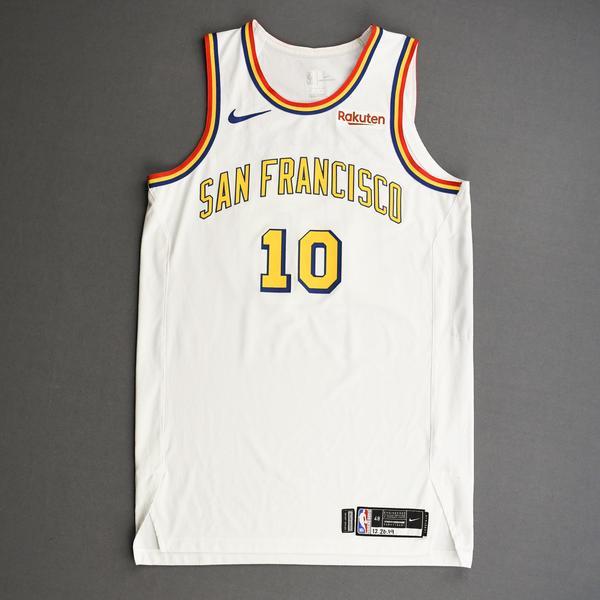 Image of Jacob Evans III - Golden State Warriors - Game-Worn Classic Edition - 1962-63 San Francisco Home Jersey - 2019-20 NBA Season